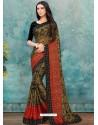 Mehendi Latest Casual Designer Chiffon Brasso Sari