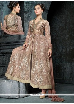 Aristocratic Embroidered Work Net Anarkali Salwar Suit