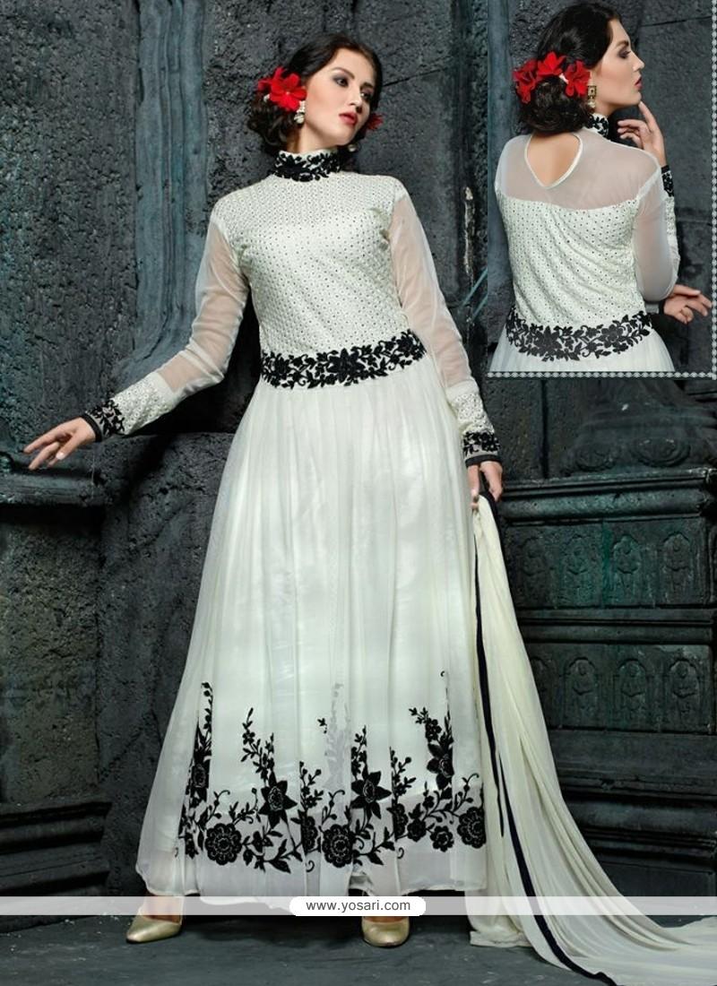 Beguiling Resham Work Anarkali Suit