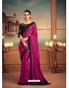 Medium Violet Mesmeric Designer Party Wear Wear Sari