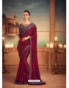 Maroon Mesmeric Designer Party Wear Wear Sari