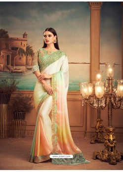 Multi Colour Mesmeric Designer Party Wear Wear Sari