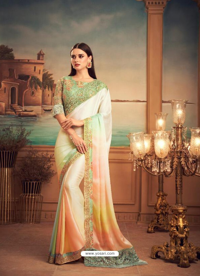 Multi Colour Mesmeric Designer Party Wear Wear Sari