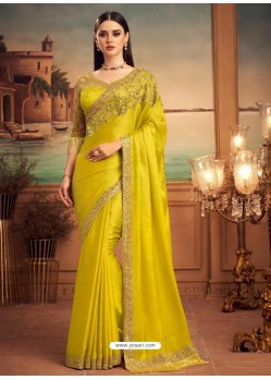 Corn Mesmeric Designer Party Wear Wear Sari