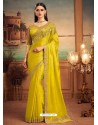 Corn Mesmeric Designer Party Wear Wear Sari