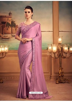 Mauve Mesmeric Designer Party Wear Wear Sari