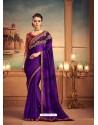 Violet Mesmeric Designer Party Wear Wear Sari
