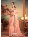 Baby Pink Mesmeric Designer Party Wear Wear Sari