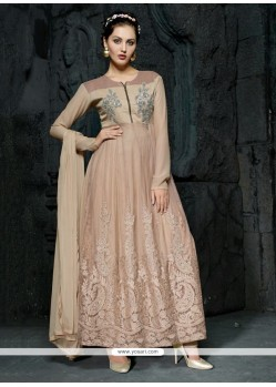Stunning Georgette Embroidered Work Anarkali Salwar Suit