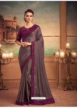 Old Rose Mesmeric Designer Party Wear Wear Sari