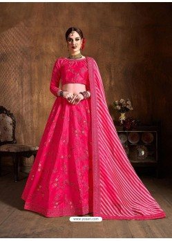 Fuchsia Stylish Designer Wedding Wear Lehenga