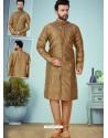 Camel Readymade Designer Indo Western Sherwani