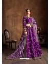 Purple Stylish Designer Wedding Wear Lehenga