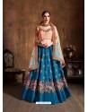 Blue Stylish Designer Wedding Wear Lehenga
