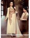 Resplendent Georgette Embroidered Work Anarkali Suit