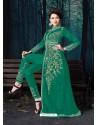 Jade Green Designer Pure Georgette Party Wear Suit