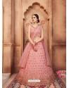 Pink Scintillating Designer Wedding Wear Lehenga