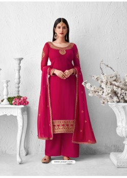 Rani Heavy Designer Party Wear Georgette Palazzo Suit