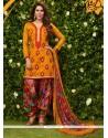 Swanky Glessh Lace Work Designer Patiala Suit