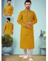 Corn Readymade Designer Party Wear Kurta Pajama For Men