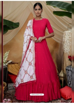Rani Latest Heavy Designer Party Wear Anarkali Suit