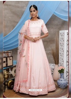 Baby Pink Latest Heavy Designer Party Wear Anarkali Suit