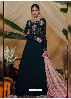 Black Latest Heavy Designer Party Wear Anarkali Suit