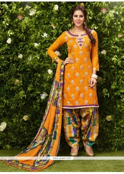Jazzy Mustard Lace Work Glessh Designer Patiala Suit
