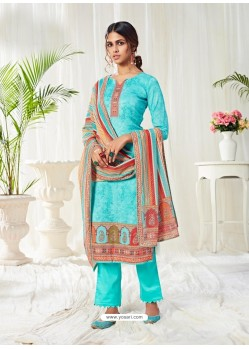 Firozi Designer Party Wear Cotton Salwar Suit