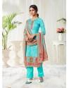 Firozi Designer Party Wear Cotton Salwar Suit