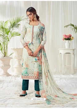 Multi Colour Designer Party Wear Cotton Salwar Suit