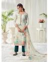 Multi Colour Designer Party Wear Cotton Salwar Suit