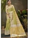 Green Party Wear Designer Phantom Silk Sari