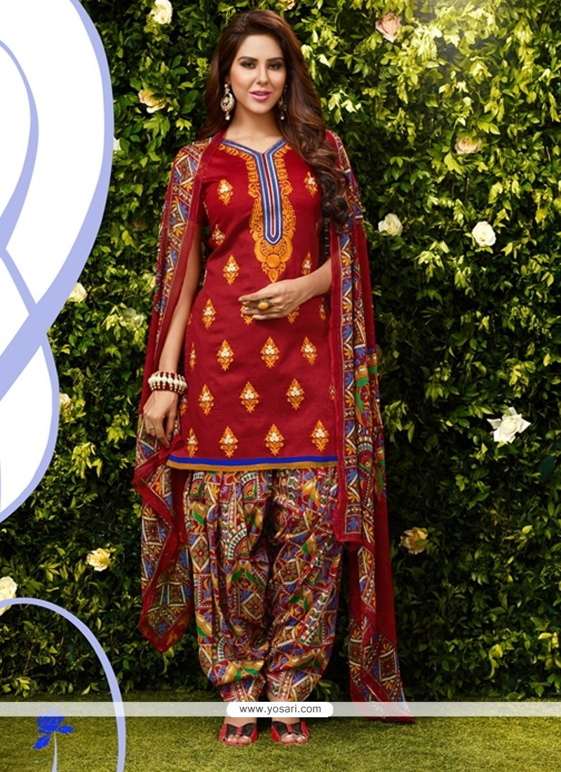 Magnetize Lace Work Designer Patiala Suit