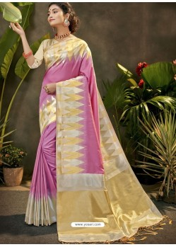 Magenta Party Wear Designer Phantom Silk Sari