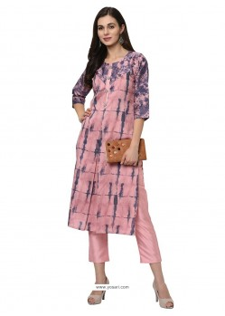 Pink Designer Readymade Party Wear Kurti