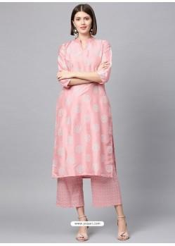 Pink Designer Readymade Party Wear Kurti