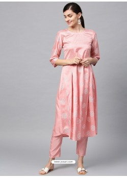 Baby Pink Designer Readymade Party Wear Kurti