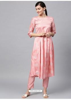 Baby Pink Designer Readymade Party Wear Kurti