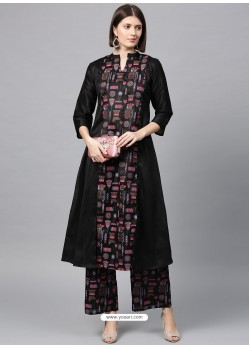 Navy Blue Designer Readymade Party Wear Kurti