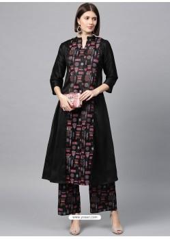 Black Designer Readymade Party Wear Kurti