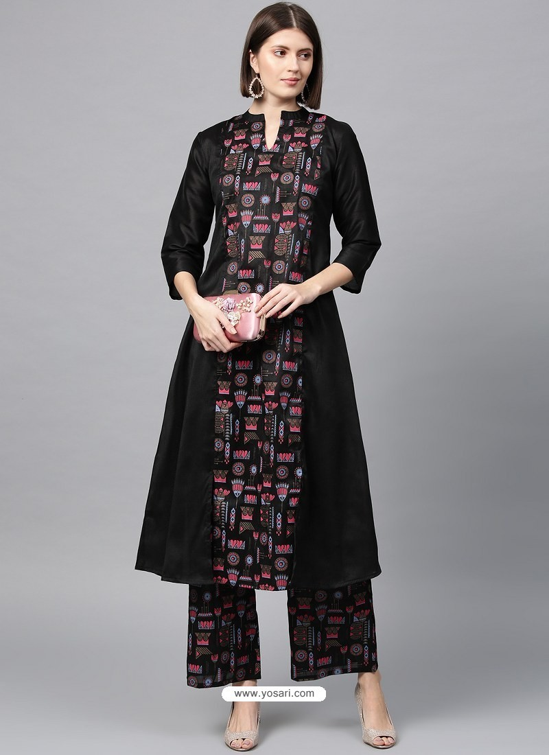 Black Designer Readymade Party Wear Kurti