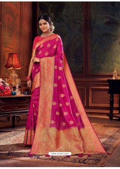Rani Gorgeous Heavy Designer Party Wear Dola Silk Sari