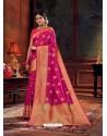 Rani Gorgeous Heavy Designer Party Wear Dola Silk Sari