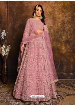 Light Pink Latest Heavy Designer Party Wear Anarkali Suit