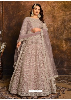 Dusty Pink Latest Heavy Designer Party Wear Anarkali Suit