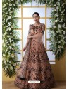 Light Orange Stunning Heavy Designer Gown Style Party Wear Anarkali Suit