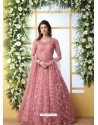 Pink Stunning Heavy Designer Gown Style Party Wear Anarkali Suit