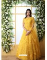 Yellow Stunning Heavy Designer Gown Style Party Wear Anarkali Suit