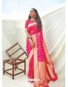 Fuchsia Latest Designer Classic Wear Silk Sari